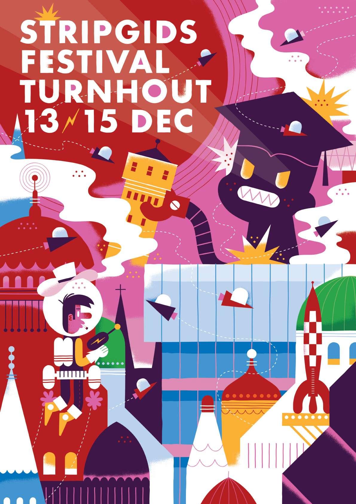 Affiche Strip Gids Festival Turnhout 20ème édition 2013