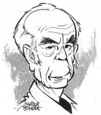 Zelfportret van Marten Toonder. (Copyright Stichting Toonder Auteursrecht)