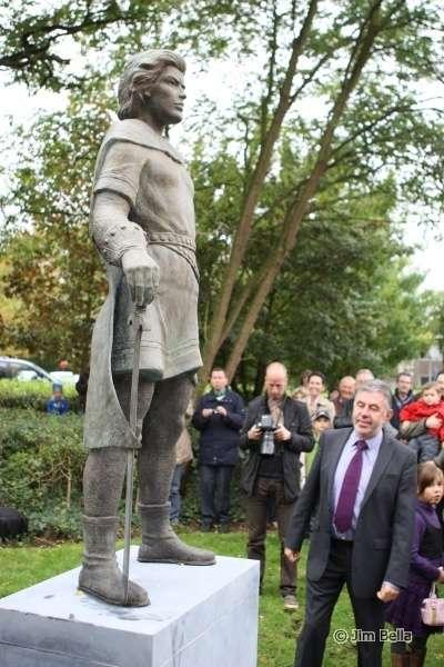 Johan de Rode Ridder in Sint-Pauwels (Foto Jim Bella)