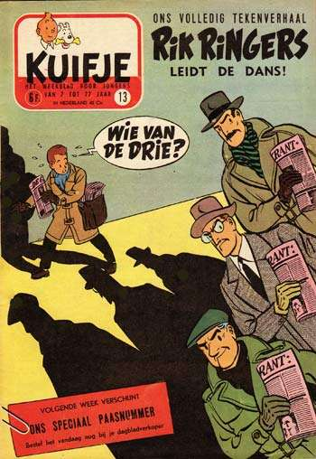 Rik Ringers zag het levenslicht in het weekblad Kuifje.