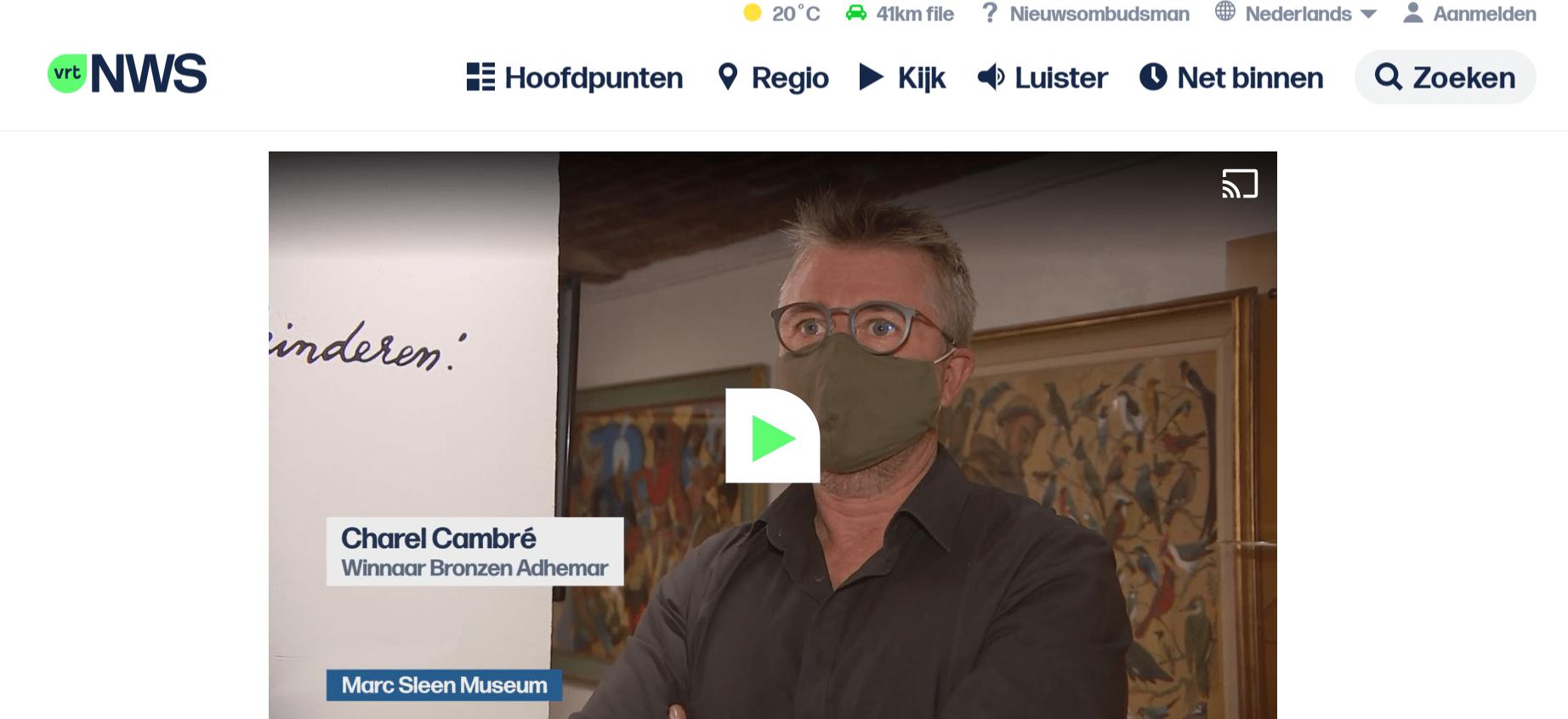 Screenshot VRT-journaal