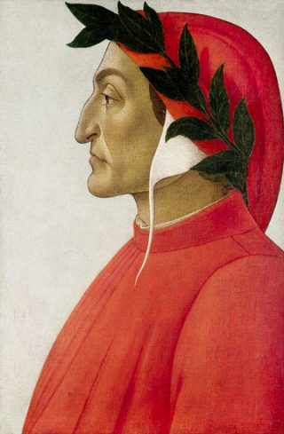 Dante Alighieri door Sandro Botticelli (c) Wikimedia