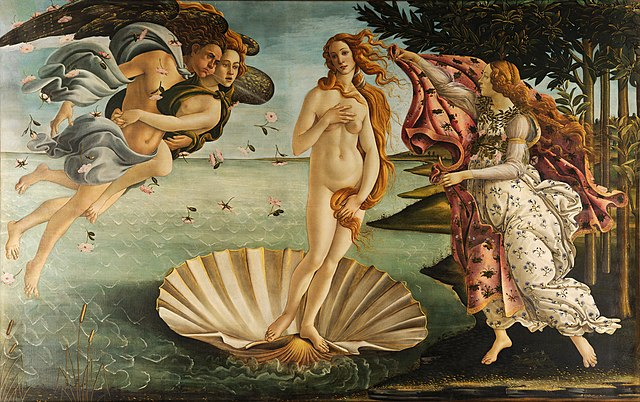 De geboorte van Venus - Sandro Boticelli