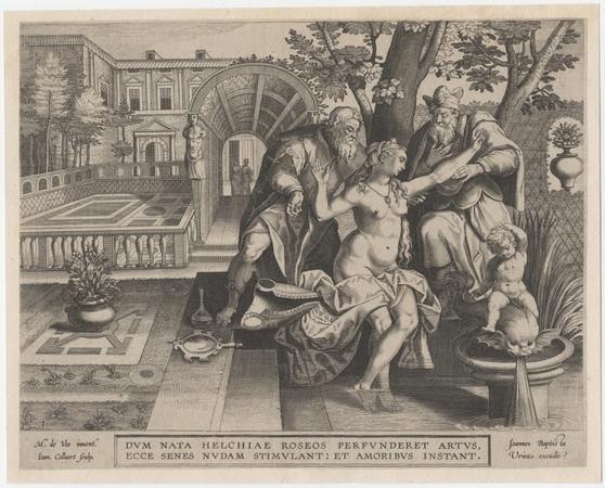 © Hans II Collaert, naar Marten de Vos, 'Susanna en de ouderlingen', c. 1561-1620, M Leuven, © M Leuven